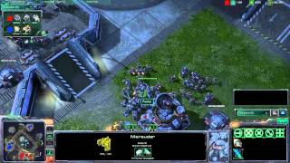 X194 - Starcraft 2 - Peanut (Terran) vs. Leeches (Protoss) on Metalopolis (Part 2/2)