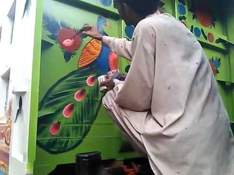 Truck Painting Art Visit Rawalpindi