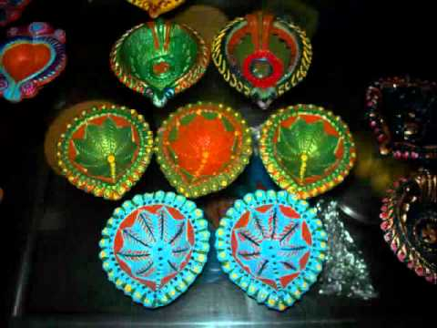 Diwali diyas youtube for Diya decoration youtube