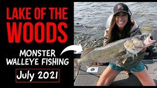 LOTW Walleye Fishing - MONSTER Walleyes (Lake of The Woods Walleye Tournament July 2021)