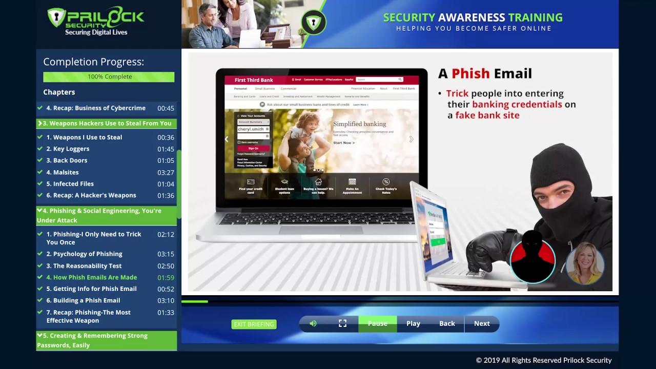 Best Cyber Security Awareness Training Company CA - Prilock