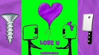 (SLOWr REMIX) Marshmello - LoVe U a Bass Boosted Chopped & Screwed Vaporwave Remix Reaction