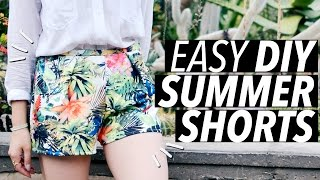 DIY Easy Summer Shorts (No Zipper! No Elastic! No Buttons!) | WITHWENDY