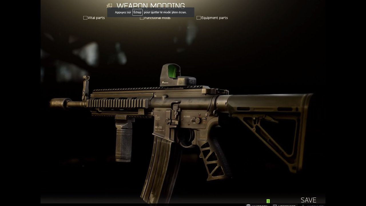 Fast modding a HK416 for Tarkov