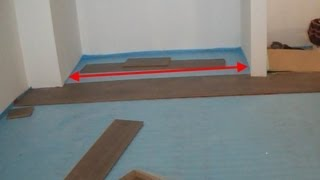 Installing Laminate Wood Flooring Under A Sliding Closet Door