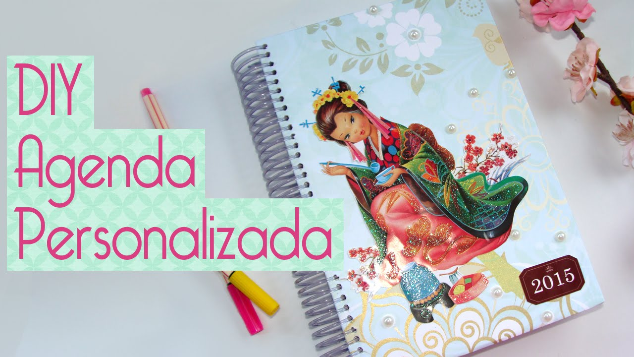 5afca3605 DIY Como fazer Agenda Personalizada Scrapbook by Tamy by Scrapbook by Tamy