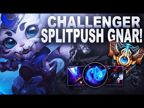 SPLITPUSH CHALLENGER GNAR! Learning From Challenger | League of Legends thumbnail