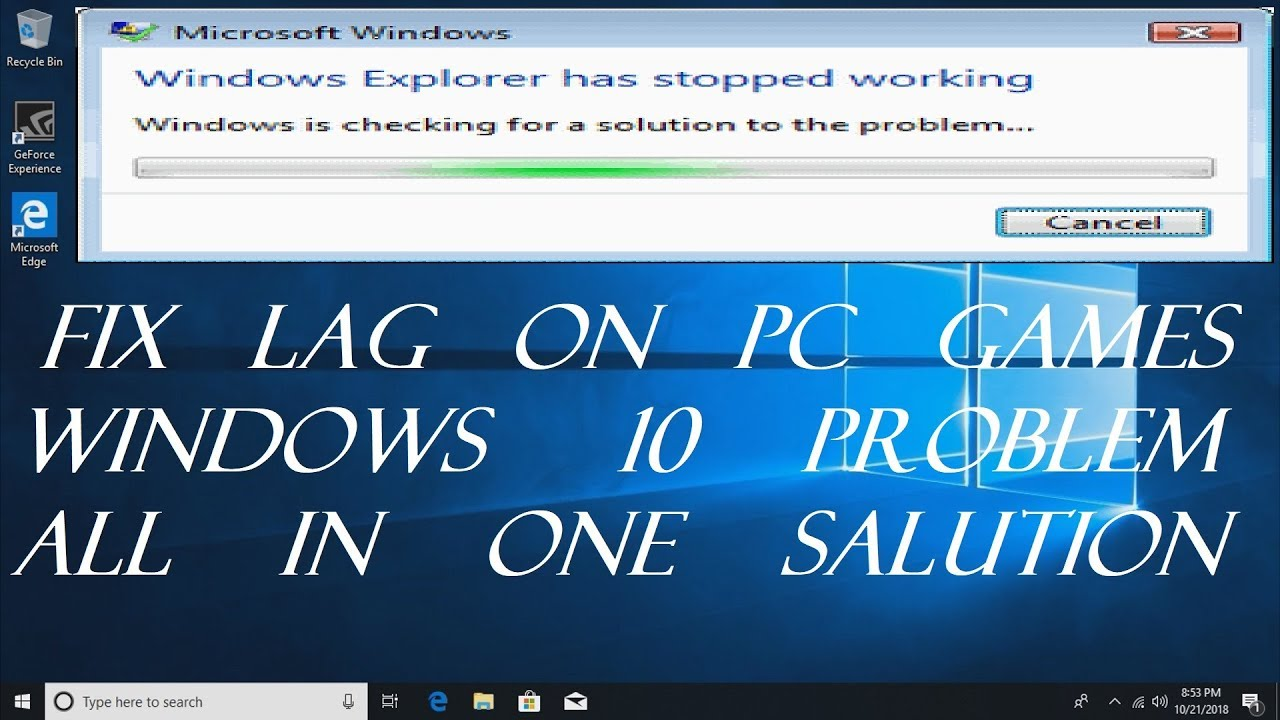 fix lag on pc games windows 10 problem All in one salution (Urdu&Hind)|Game  And Anime World