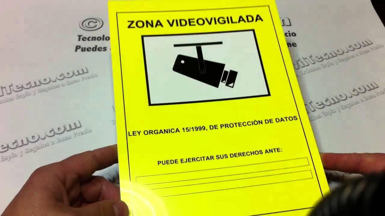 Cartel lopd de zona videovigilada en youtube - Cartel zona videovigilada ...