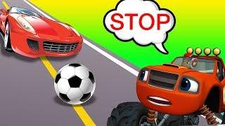 Blaze Cars Monster Machines Babies Plays Football Funny Story! Blaze Monster Truck Cartoon
