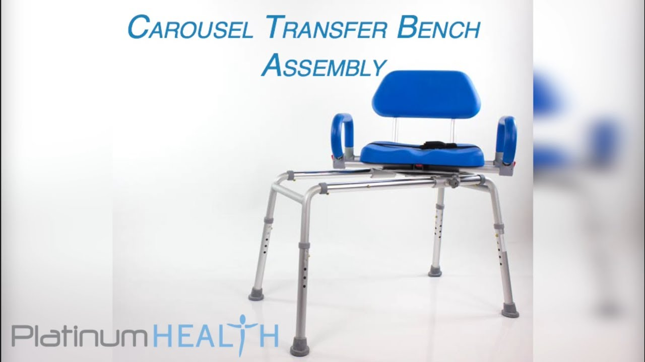 Platinum Health Carousel Premium Sliding Transfer Bench with Swivel ...