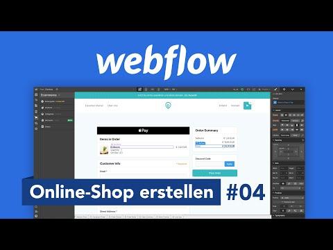 Webflow: Eigenen Online-Shop erstellen (Tutorial) Alles was du wissen musst