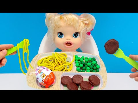 Я СТОЛЬКО НЕ СЪЕМ! #ПлейДо Еда Куклы Пупсики Игрушки Играем Как Мама IkuklaTV