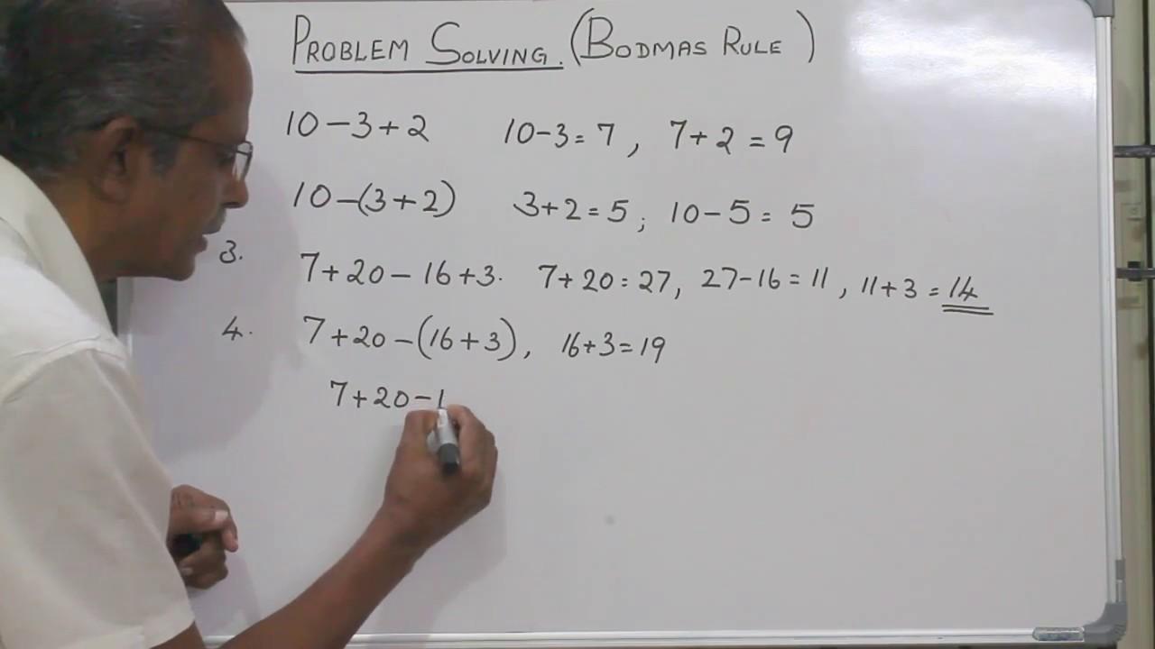medium resolution of Solving Problem using BODMAS Rule 1 - YouTube