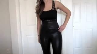 sexy girl in liquid Leggings