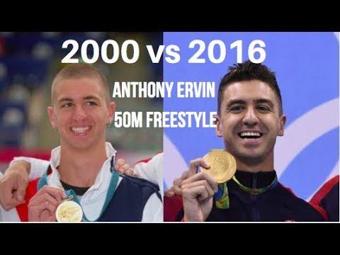Anthony Ervin 50m Freestyle: Sydney 2000 vs Rio 2016