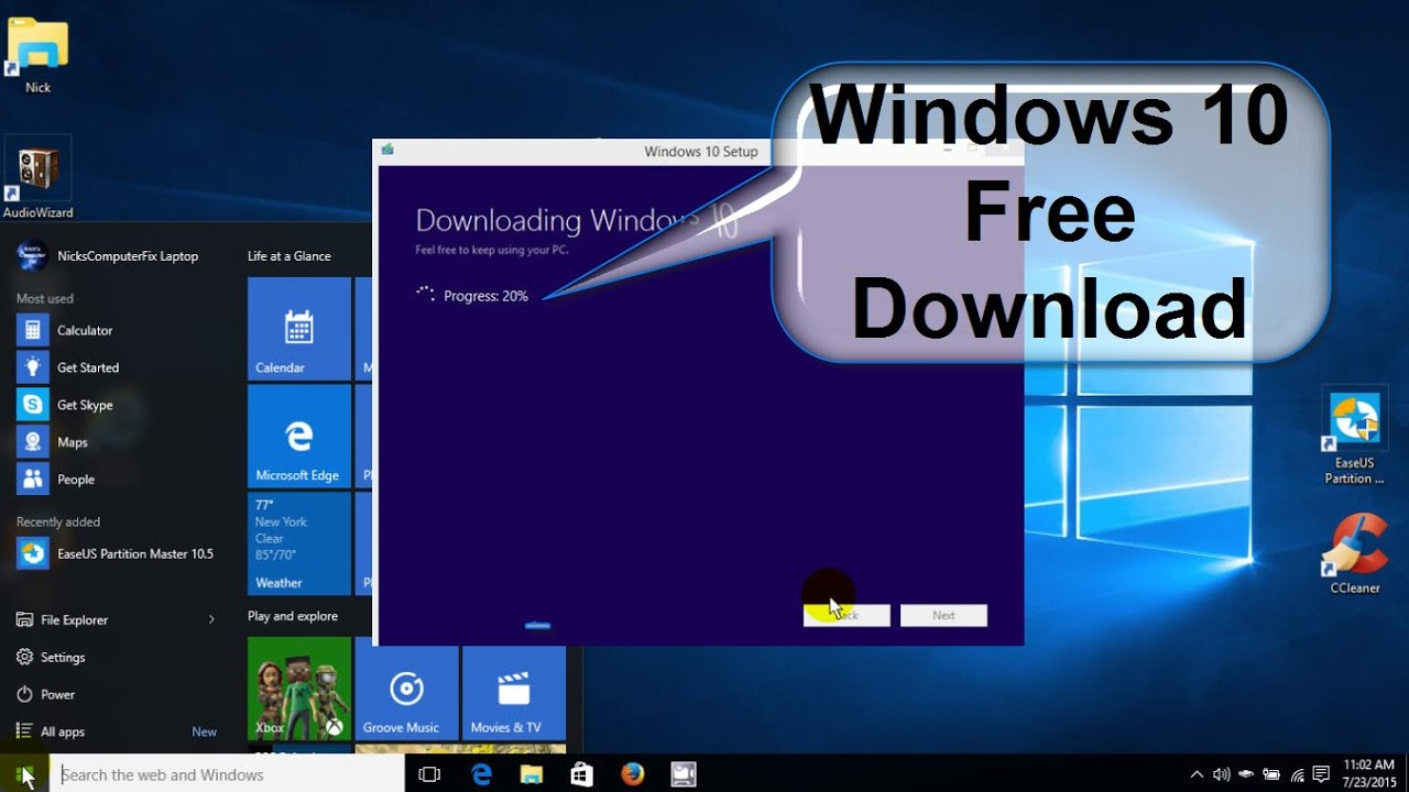 how to download windows 10 from microsoft windows 10 download free easy full version youtube. Black Bedroom Furniture Sets. Home Design Ideas