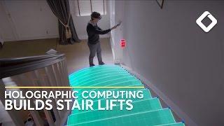 Yardım İle AR Mükemmel bir Ev merdiven Asansörü yapı