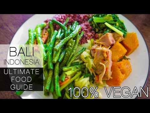 BALI INDONESIA - ULTIMATE CHEAPEST FOOD GUIDE - 100% VEGAN