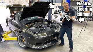 homepage tile video photo for Putting An Electric Steering Column In My Miata! Will it Work!? No Lines, No Pump, No Fluid!