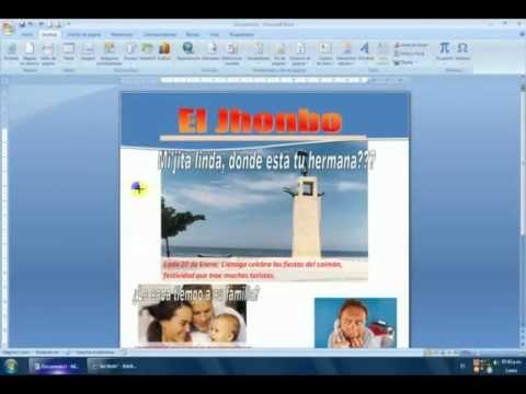 LECCION 12 - DISEÑO DE PORTADA DE REVISTA EN WORD - YouTube