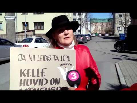 2016 04 21 Pärnu Raekoda Pärnu Turg EKRE pikett Helle Kullerkupp intervjuu