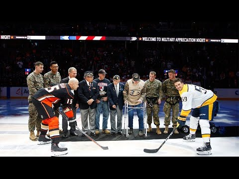 Ducks honor veterans on Military Appreciation Night