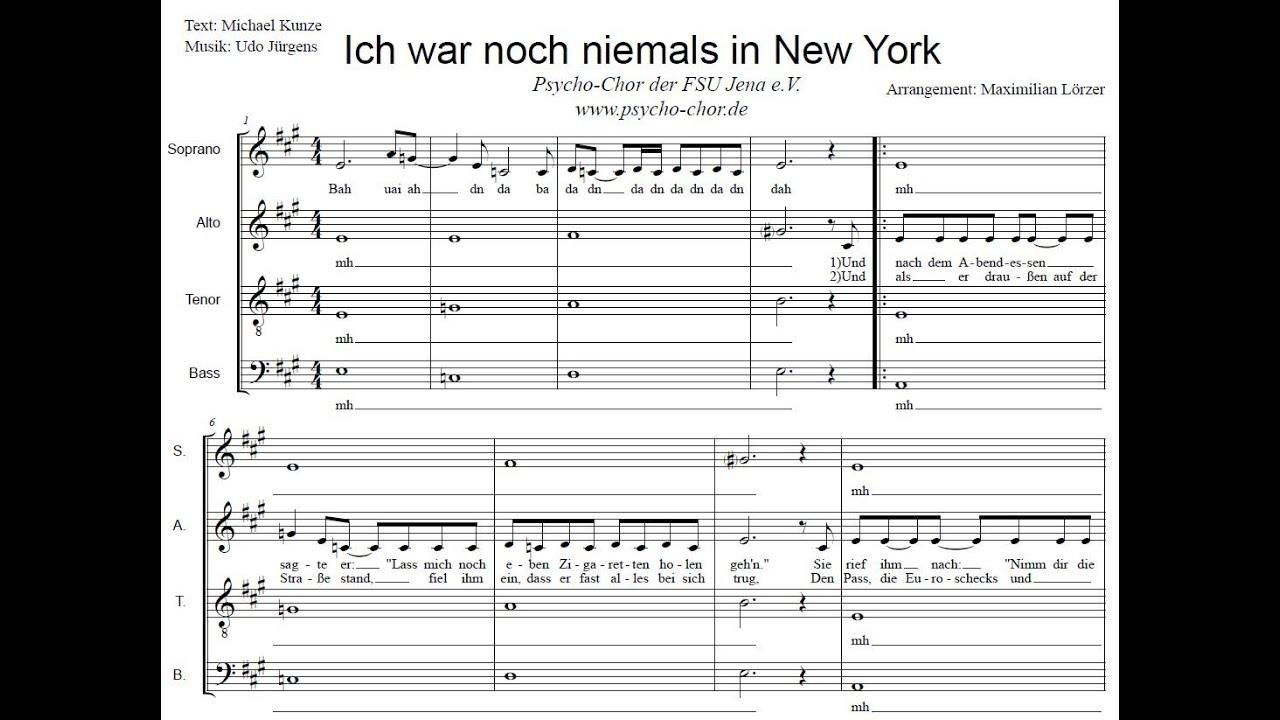 Ich war noch niemals in New York (Udo Jürgens) - Psycho-Chor der Uni Jena