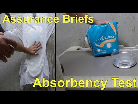 Assurance Adult Briefs Absorbency Test