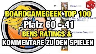 Die Boardgamegeek Top 100: Meine Ratings und Kommentare zu den Spielen. Teil 3: 60 - 41