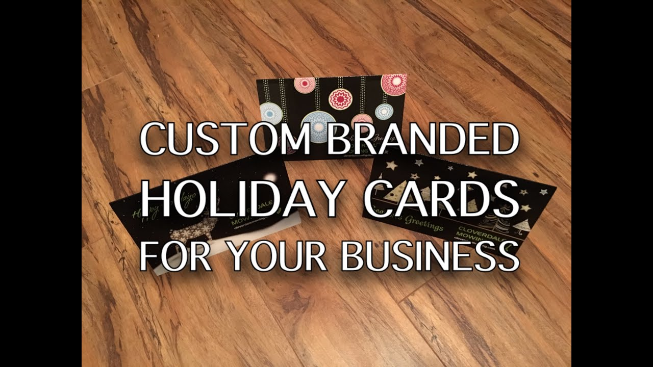 Vista Print Custom branded holiday cards for your business - YouTube