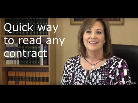 How To Read A Contract.quickly- And When NOT To Sign!