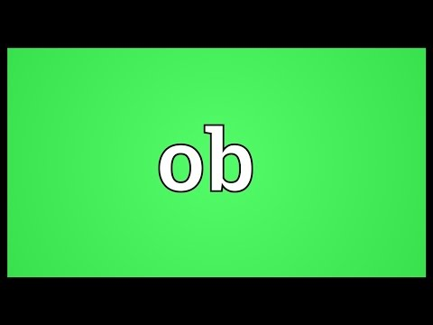 Ob Meaning
