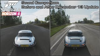 Forza Horizon 4 - Jaguar Lightweight E-Type Sound Comparison - Before and After December 13 Update