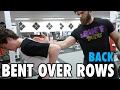 Teen Beginners Bodybuilding Training - BENT OVER ROWS