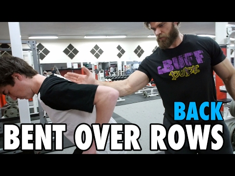 Teen Beginners Bodybuilding Training BENT OVER ROWS