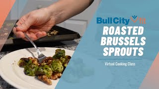 ROASTED BRUSSELS SPROUTS WITH WALNUTS AND BALSAMIC VINEGAR SAUCE | a virtual cooking class by BCF