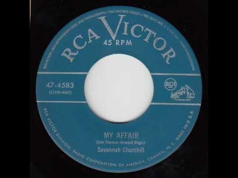 Savannah Churchill (& Grp.) (Striders) - My Affair (RCA Victor 47-4583) 1952