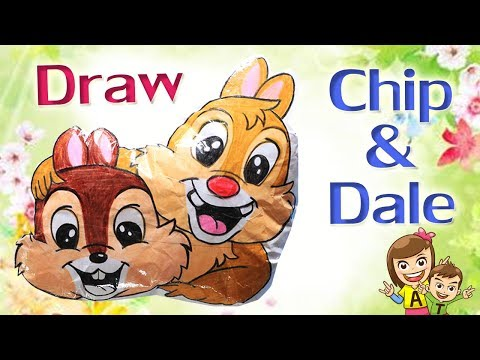 DIY L Teach To Draw Chips And Dale L At4kids