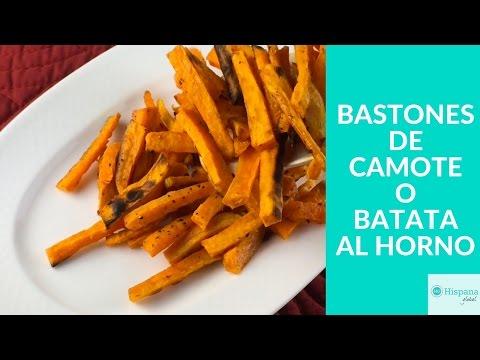 Receta saludable: bastones de batatas o camotes al horno
