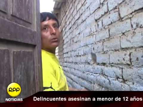 Trujillo: Delincuentes asesinan a niño de 12 años en balacera