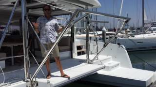 Bali 4.3 Sailing Catamaran Davit System for a dinghy By: Ian Van Tuyl