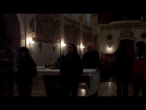 Singing in the Bethlehem University chapel - EMU Middle East Cross-Cultural