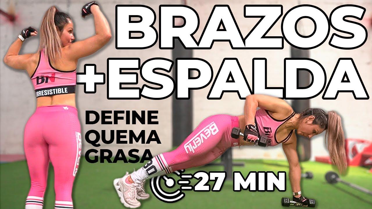 (27 MIN) BISERIES para ESPALDA y BRAZOS DEFINIDOS y BONITOS - Quema Grasa de Espalda y Brazos