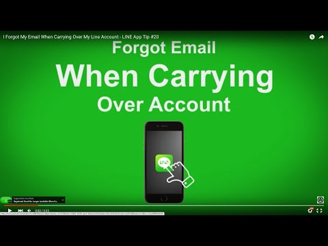 I Forgot My Email When Carrying Over My Line Account - LINE App Tip #20