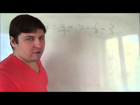 Как разделить число на дробь