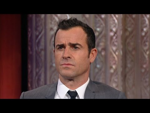 Stephen Challenges Justin Theroux To An EyebrowActing Contest