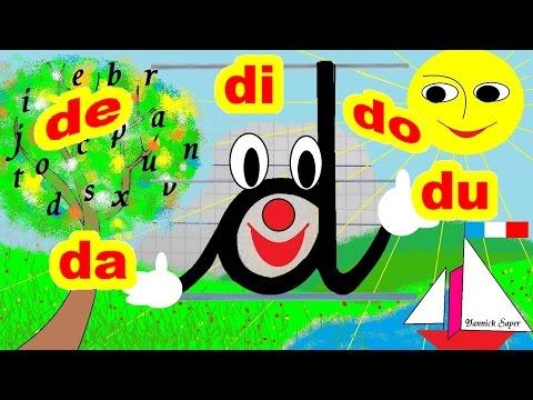 Français Maternelle apprendre à lire au CP et écrire la lettre d, D