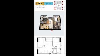 Bcons Plaza - Căn 2pn 2wc 51,03m2 - Loại A1 - Hotline: 0707 66 99 09