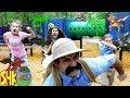 Noah's Beasts Save the Giant Slime Playground! | SuperHeroKids